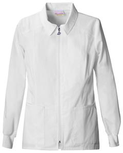 Skechers Women's Fashion Whites Zip Front Lab Coat