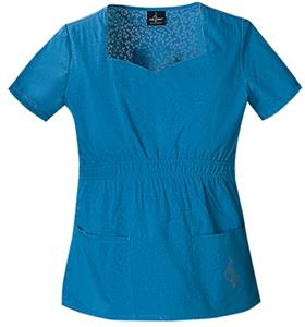 Baby Phat Women's Burn-Out Scrubs Top