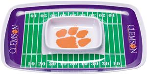 COLLEGIATE Clemson Chips &amp; Dip Tray (Set of 6)