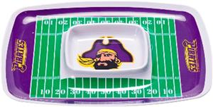 COLLEGIATE East Carolina Chips & Dip Tray Set of 6