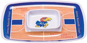 COLLEGIATE Kansas Jayhawk Chip &amp; Dip Tray Set of 6