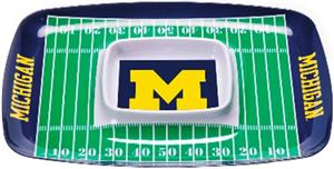 COLLEGIATE Michigan Chips &amp; Dip Tray (Set of 6)