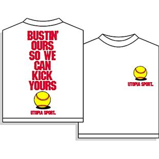 Utopia Fastpitch Softball Bustin' Ours Tshirt