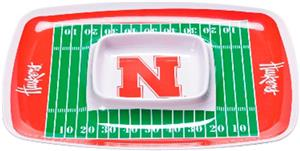 COLLEGIATE Nebraska Chips &amp; Dip Tray (Set of 6)
