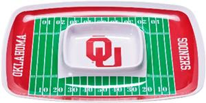 COLLEGIATE Oklahoma Chips & Dip Tray (Set of 6)