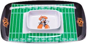 COLLEGIATE Oklahoma St Chips & Dip Tray Set of 6