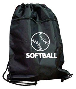 SOFTBALL DRAWSTRING BACKPACK softball bag