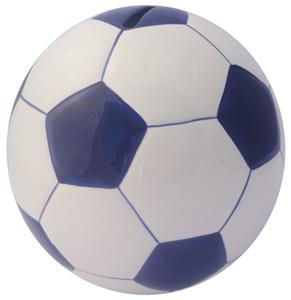 Soccer Ball Dark Blue Money Bank