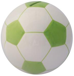 Soccer Ball Lime Green Money Bank