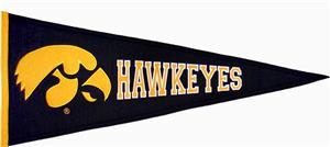 Winning Streak NCAA University of Iowa Pennant