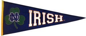 Winning Streak NCAA Notre Dame Clover Leaf Pennant