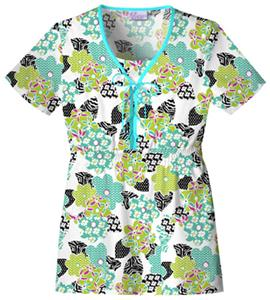 Skechers Women's Empire Waist Scrub Top