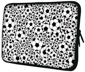 Soccer Black & White Neoprene Laptop Covers