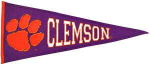 Winning Streak NCAA Clemson University Pennant