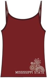 Emerson Street Mississippi St Womens Stretch Cami