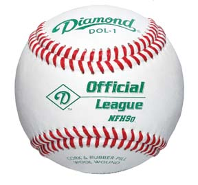 Diamond NFHS Official League Baseballs DOL-1 C/O