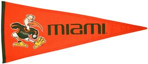 Winning Streak NCAA University of Miami Pennant