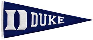 Winning Streak NCAA Duke University Pennant