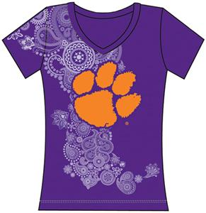 Emerson Street Clemson Womens Interactive Tee