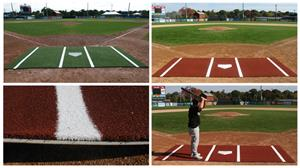 Promounds Baseball Batting Mat with Lines