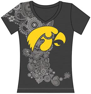 Emerson Street Iowa Hawkeye Womens Interactive Tee