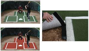 Promounds Baseball Batting Mat with Extension