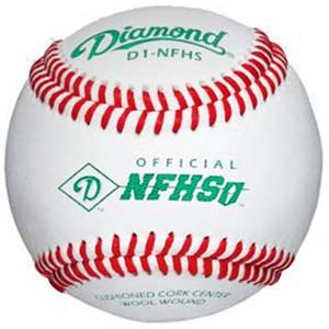 Diamond D1-NFHS Official Leather Baseballs