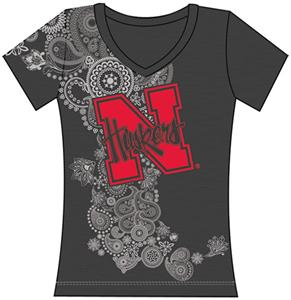 Nebraska Cornhuskers Womens Interactive Tee