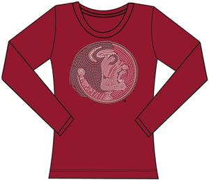 Florida State Womens Jeweled Long Sleeve Top