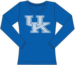 Kentucky Wildcats Womens Jeweled Long Sleeve Top