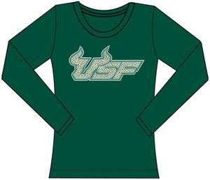Univ. South Florida Womens Jeweled Long Sleeve Top