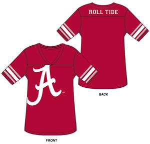 Alabama Univ Burnout Football Jersey Nightshirt
