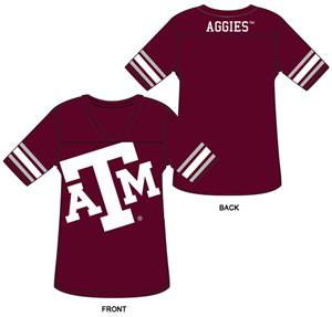 Texas A&amp;M Burnout Football Jersey Nightshirt