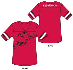 Arkansas Burnout Football Jersey Nightshirt
