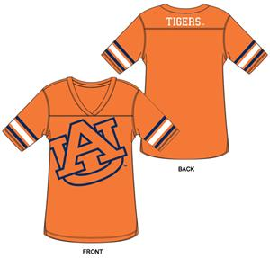 Auburn Tigers Burnout Football Jersey Nightshirt