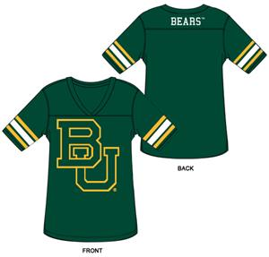 Baylor Bears Burnout Football Jersey Nightshirt
