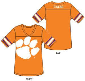 Clemson Tigers Burnout Football Jersey Nightshirt