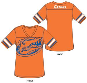 Florida Gators Burnout Football Jersey Nightshirt