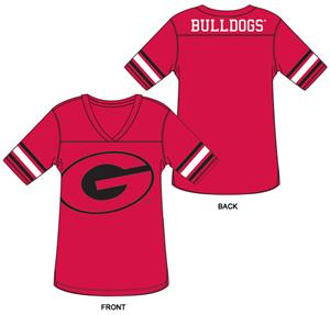 Georgia Bulldog Burnout Football Jersey Nightshirt
