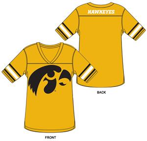 Iowa Hawkeyes Burnout Football Jersey Nightshirt