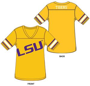 LSU Tigers Burnout Football Jersey Nightshirt