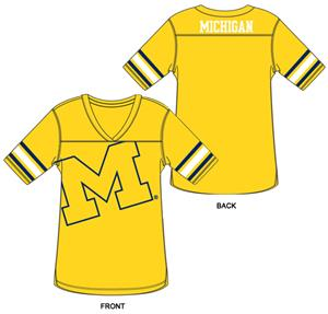 Michigan Burnout Football Jersey Nightshirt