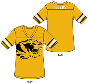 Missouri Tigers Burnout Football Jersey Nightshirt