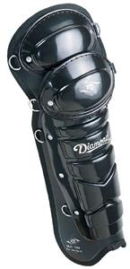 "Diamond DLG-UXS 17"" Baseball Umpire Leg Guards"