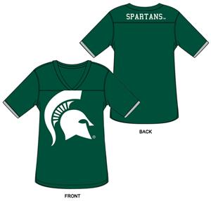 Michigan State Burnout Football Jersey Nightshirt