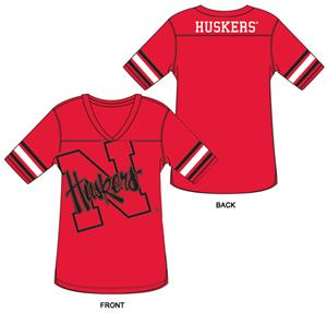 Nebraska Burnout Football Jersey Nightshirt