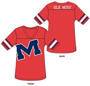 Ole Miss Burnout Football Jersey Nightshirt
