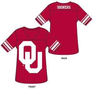 Oklahoma Burnout Football Jersey Nightshirt