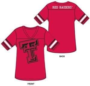 Texas Tech Burnout Football Jersey Nightshirt