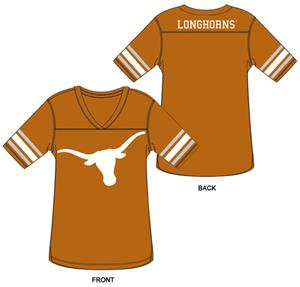 Texas Longhorns Burnout Football Jersey Nightshirt